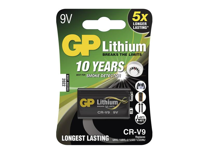 Batéria lítiová 6F22 9V/800mAh GP CR-V9