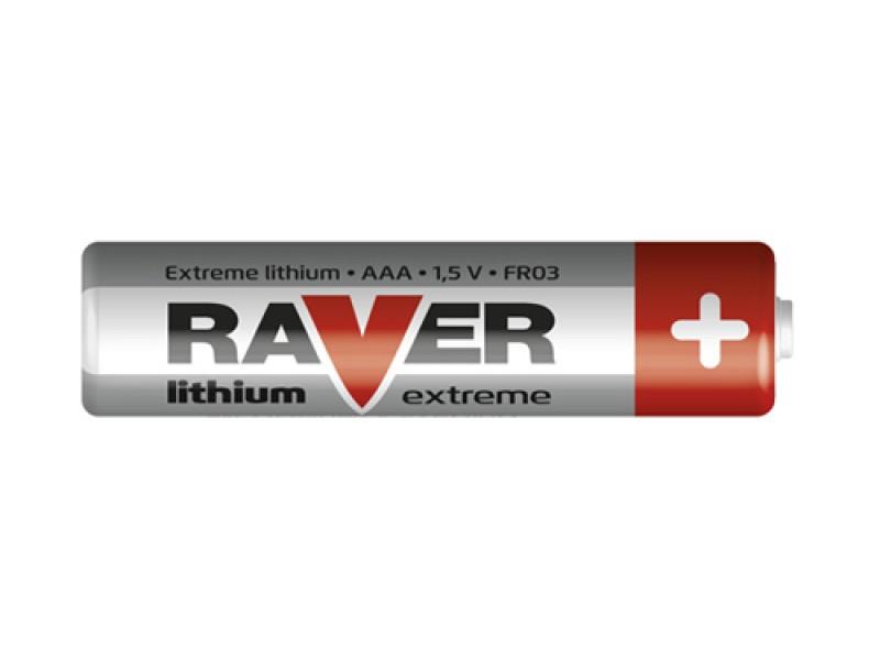 Batéria lítiová AAA R03 1,5V RAVER