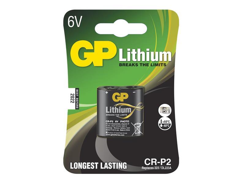 Batéria CR-P2 GP lítiová (foto)