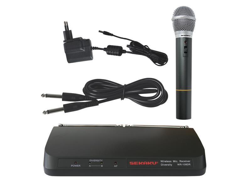 Mikrofón bezdrôtový SHOW WR108DR+VXM286TS sada