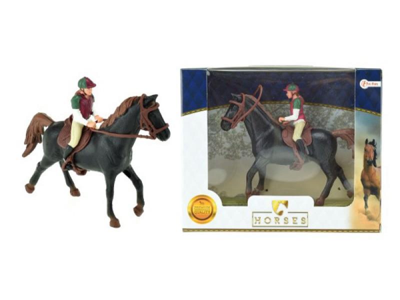 Detský kôň sa džokejom TEDDIES 13 cm
