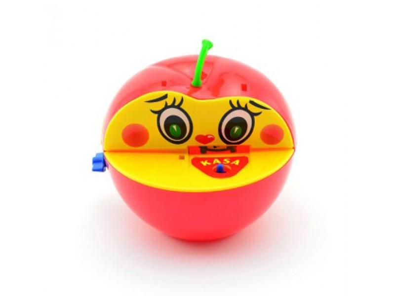 Detská pokladnička TEDDIES Červené jablko s červíkom