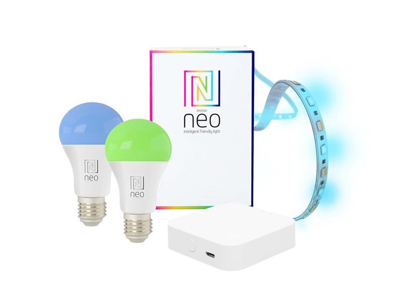 Múdra WiFsada IMMAX NEO DELICATE BRIDGE PRO SMART ZIGBEE 3.0 + 2x žiarovka E27 9W RGB + 1x LED pásik