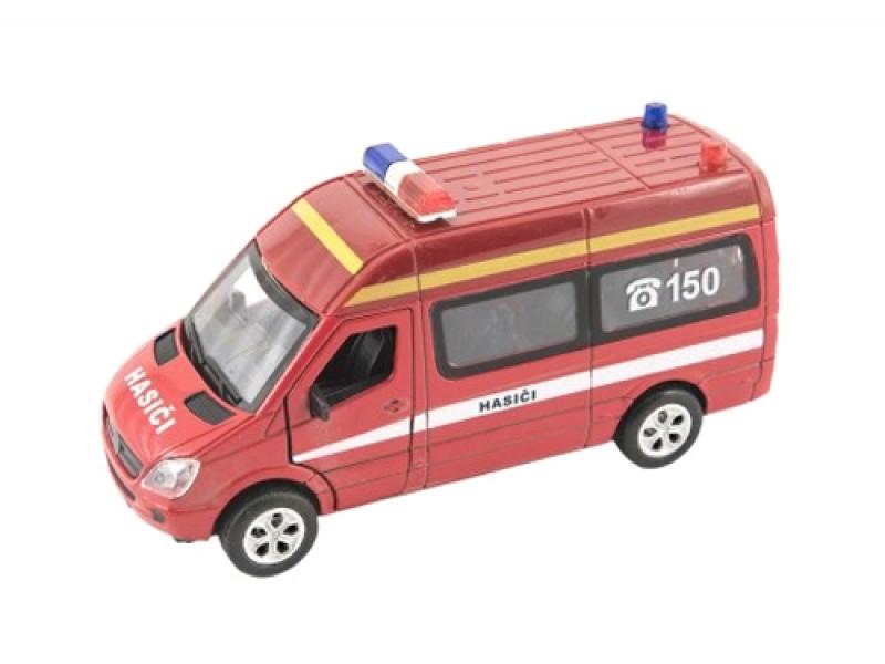 Detské hasičské auto TEDDIES so svetlom a zvukom 15 cm