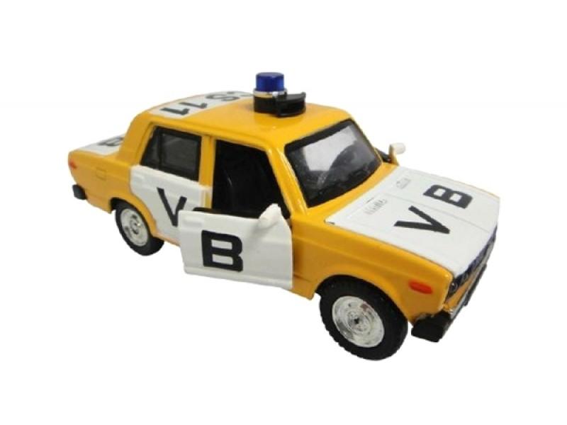 Detské policajné auto TEDDIES VB LADA 1600 VAZ 2106 12 cm