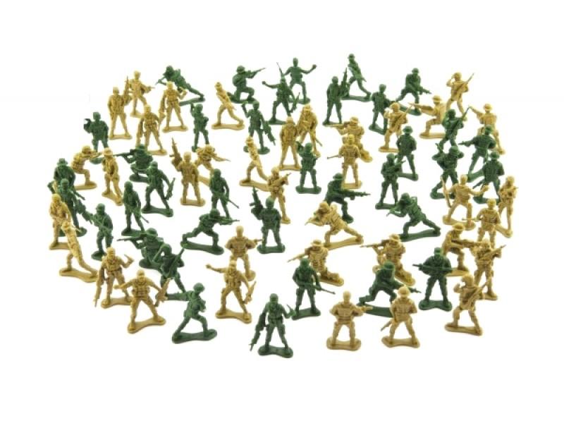 Sada vojakov TEDDIES ARMY I 2 farby CZ design 18x19.5cm
