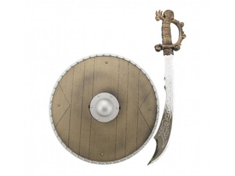 Detský rytiersky meč so štítom TEDDIES 40 cm