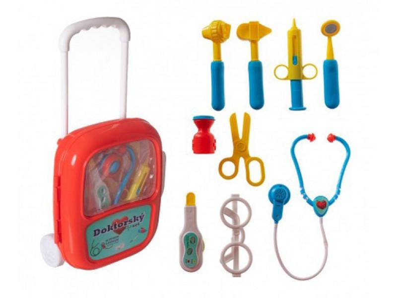Detský doktor TEDDIES sa stetoskopom v kuforíku