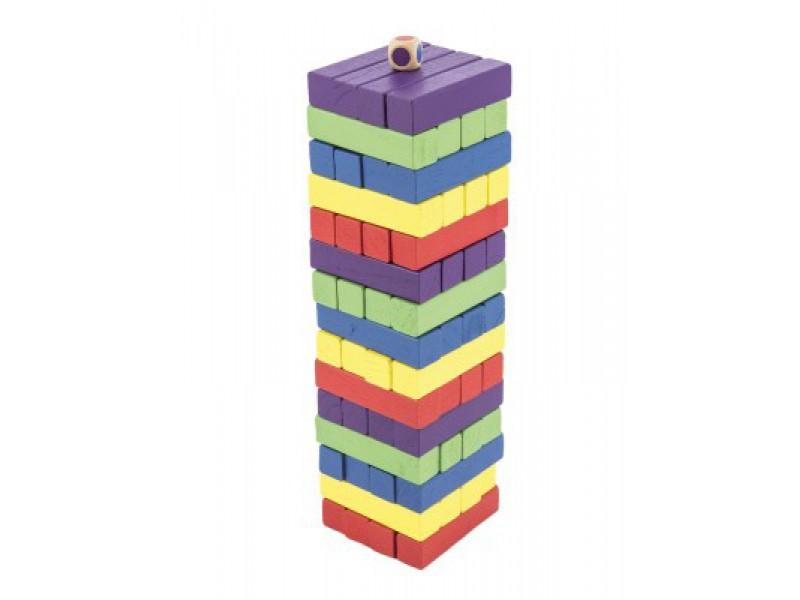 Hlavolam BONAPARTE Veža drevený 60ks