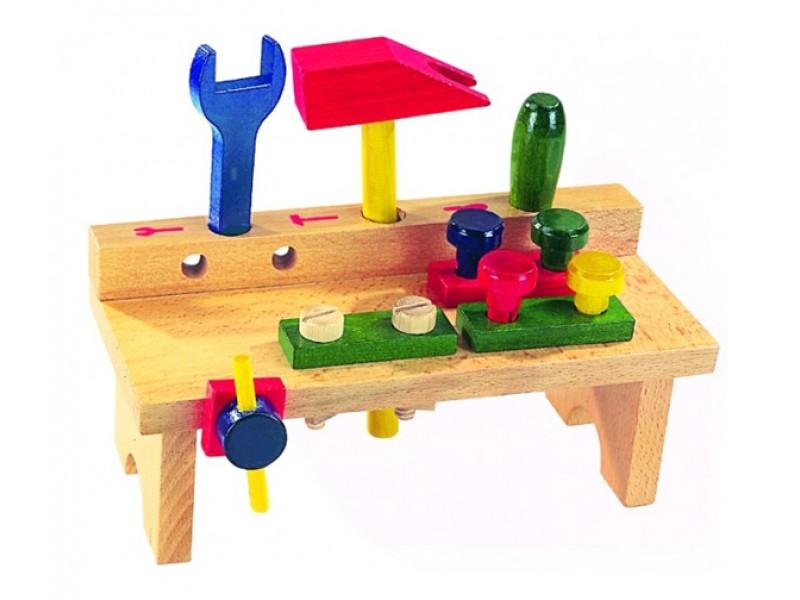 Detský stôl s náradím DETOA drevený 8ks