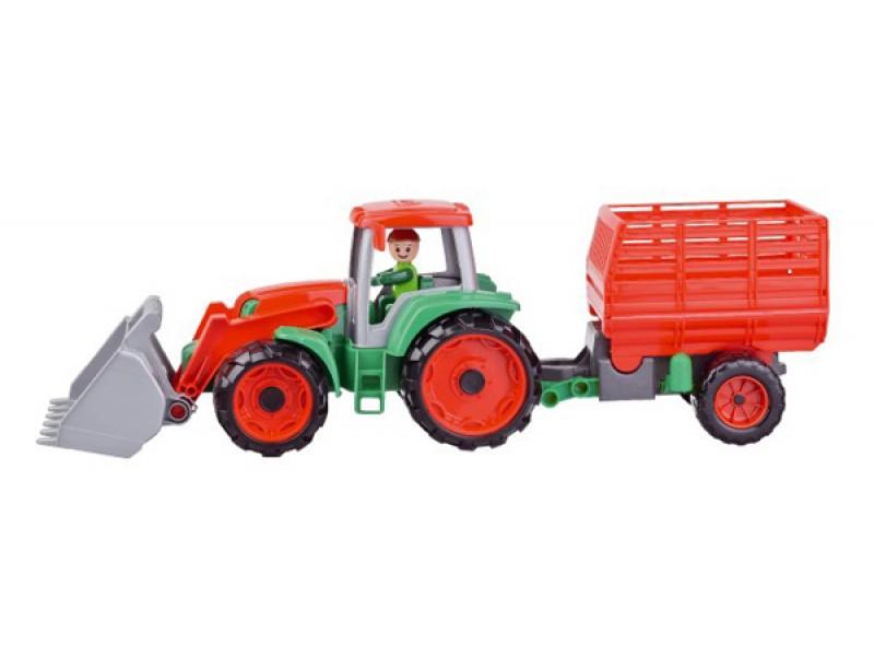 Detský traktor s prívesom LENA TRUXX 53 cm