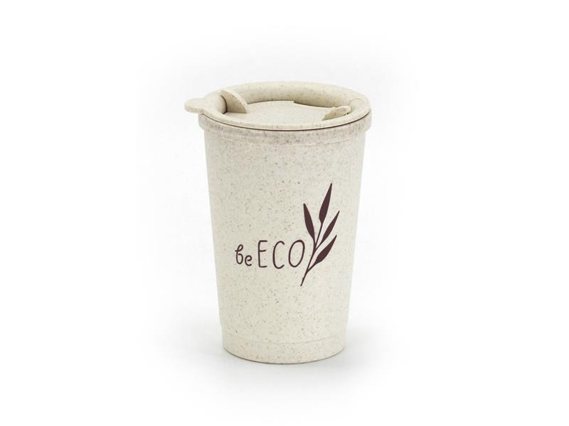 Kelímok s viečkom G21 beECO Espresso 280ml béžový