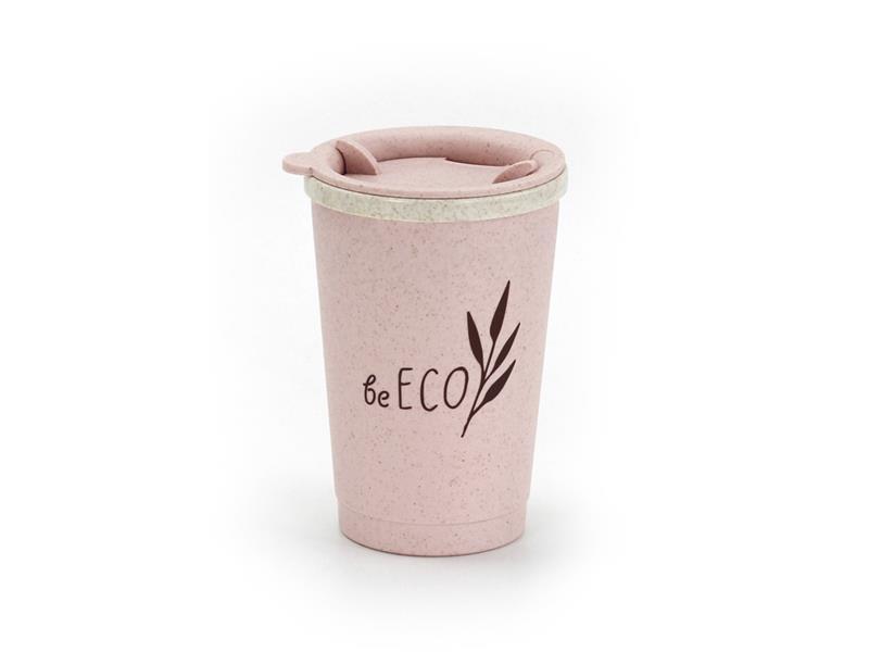Kelímok s viečkom G21 beECO Espresso 280ml ružový