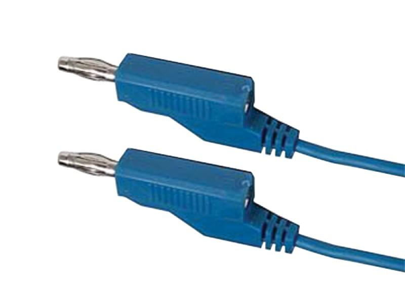 Kábel prepojovací 0,35mm2 / 1m s banánikmi modrý HADEX N531