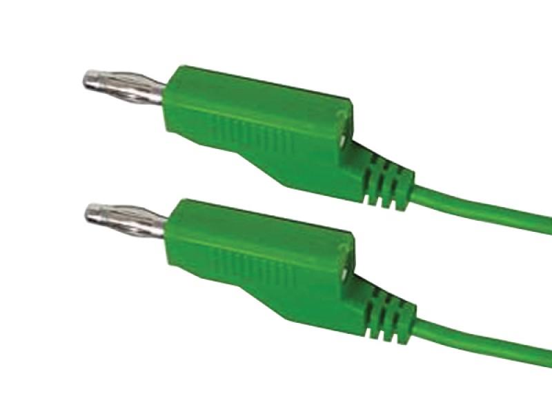 Kábel prepojovací 0,35mm2 / 1m s banánikmi zelený HADEX N532