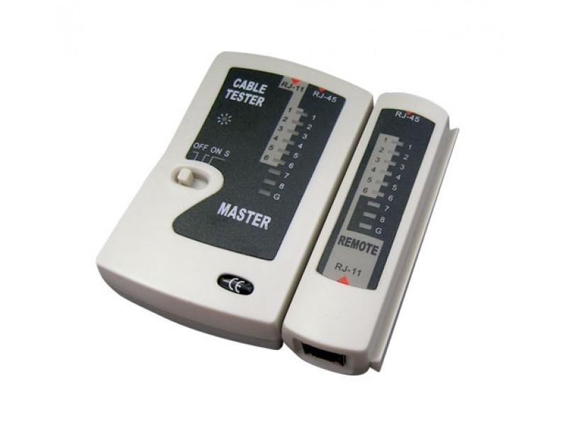 Tester kábelu UTP (RJ45, RJ11)