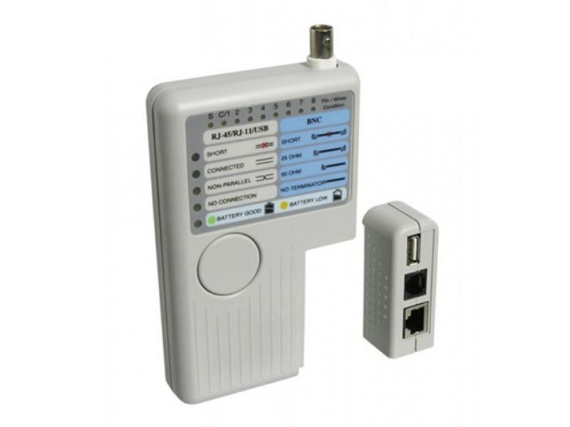 Tester kábelu CAT, USB, BNC line tester