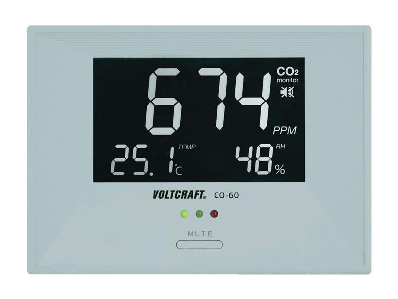 Digitálny ukazatel klimatu v místnosti Voltcraft CO-60, CO2