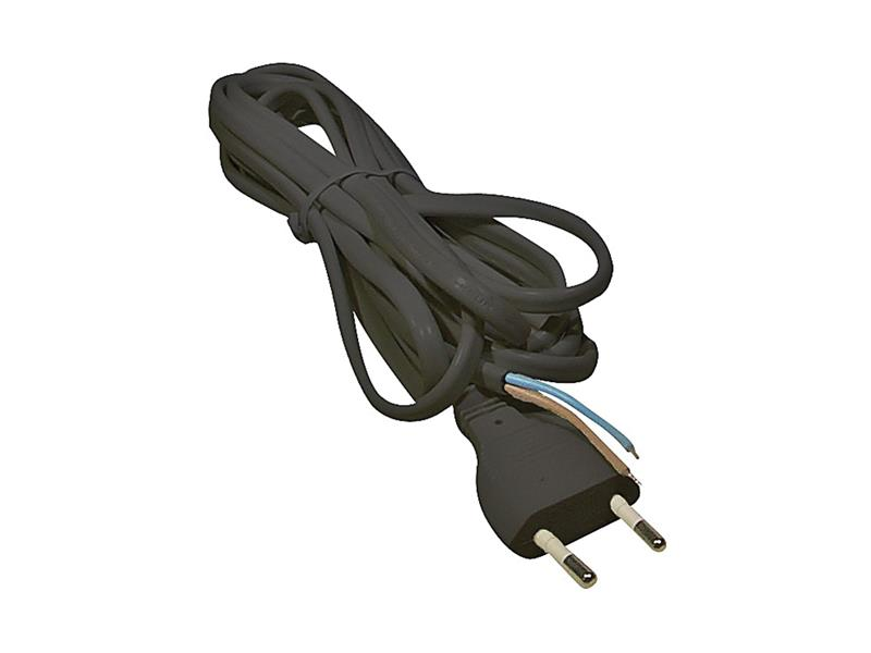 Flexo šnúra PVC 2x0,75mm 3m čierna