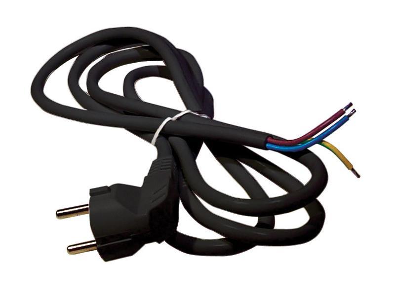 Flexo šnúra PVC 3x0,75mm 2m čierna