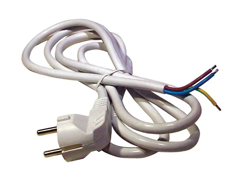 Flexo šnúra PVC 3x1,5mm 5m biela