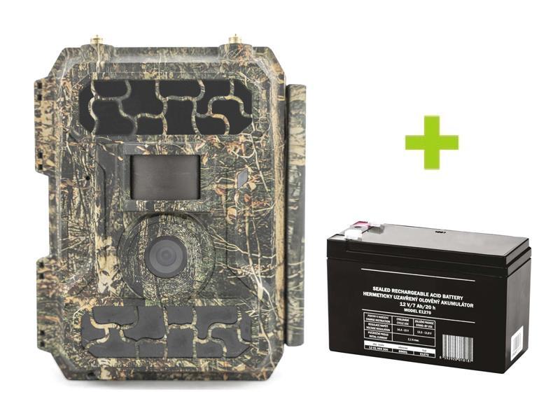 Fotopasca OXE Panther 4G + externí akumulátor 12V/2,2Ah a napájací kábel