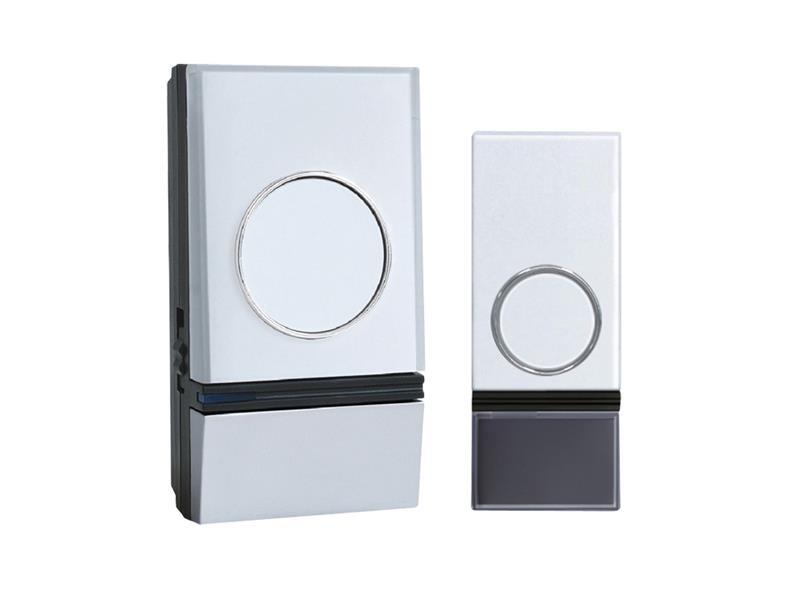 Zvonek domovní bezdrátový SOLIGHT 1L28 32melodií, learning code 1L28 bielý