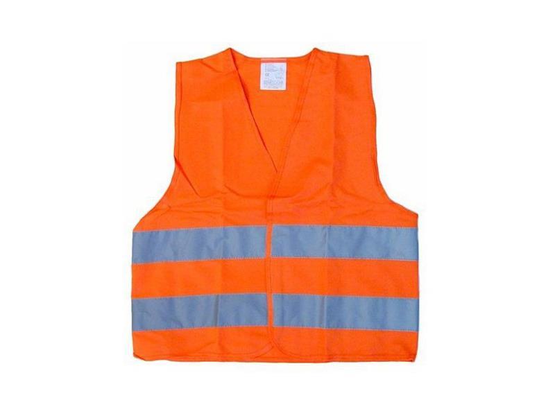 Reflexná výstražná vesta oranžová detská COMPASS 01513