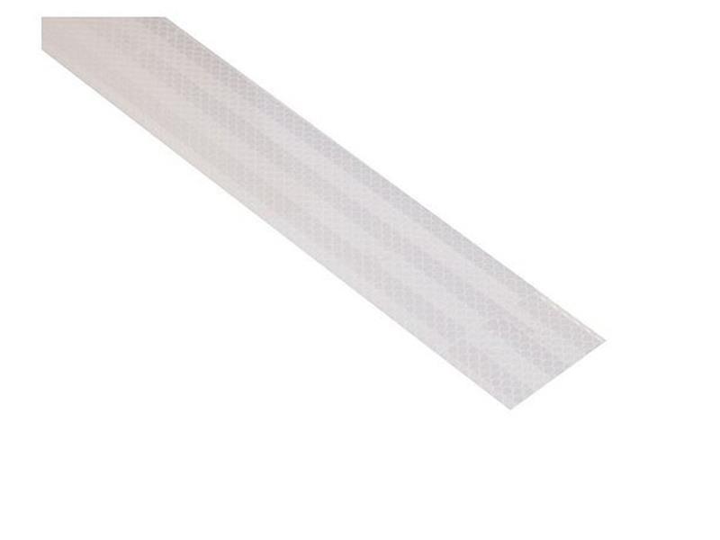 Reflexná páska samolepiaca 1m x 5cm biela COMPASS 01539