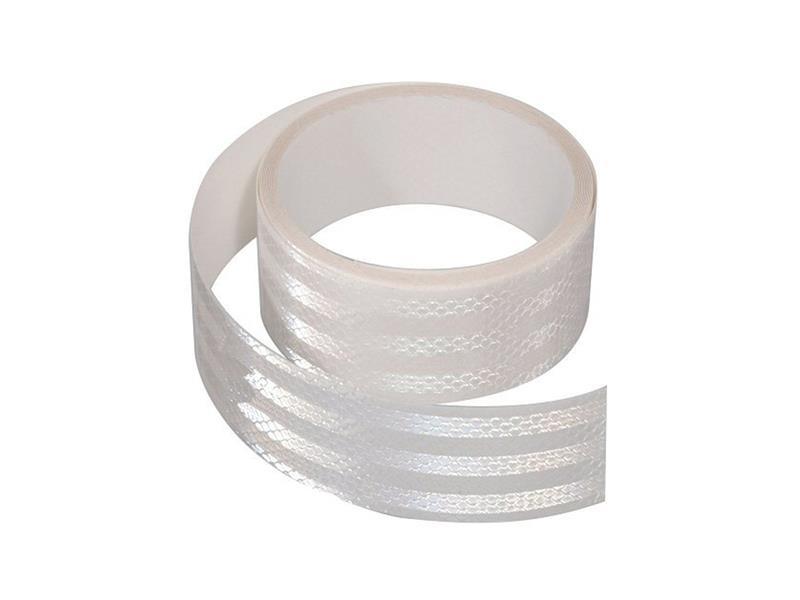 Reflexná páska samolepiaca 5m x 5cm biela COMPASS 01542