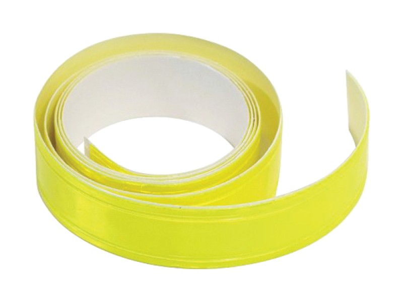 Reflexná páska samolepiaca 90cm x 2cm žltá COMPASS 01584