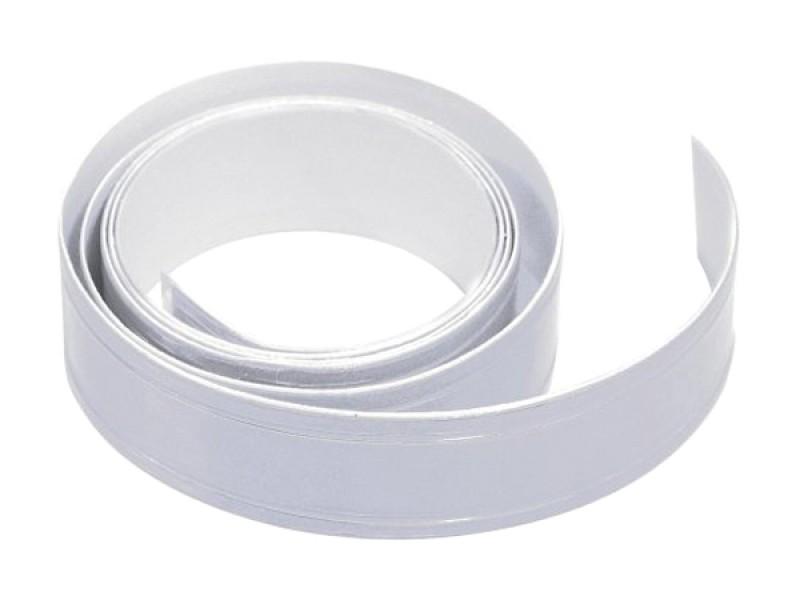 Reflexná páska samolepiaca 90cm x 2cm strieborná COMPASS 01585