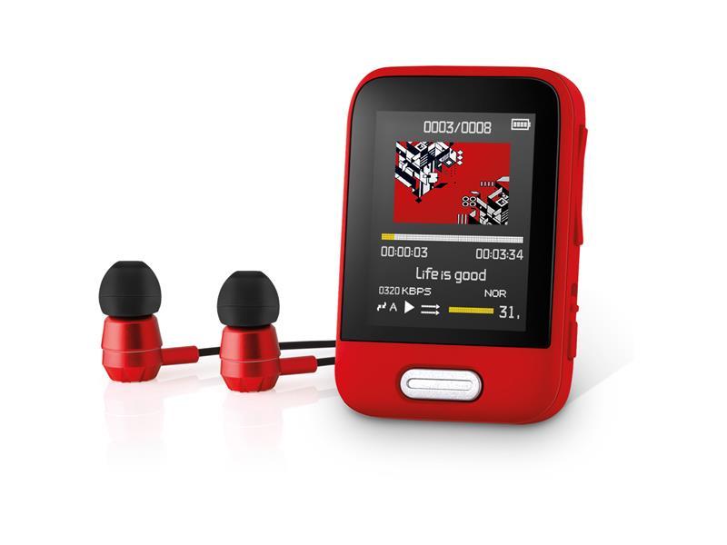 Prehrávač MP3/MP4 SENCOR SFP 7716 RD 16GB