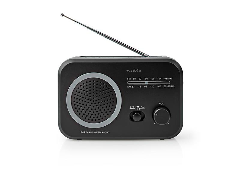 Rádio NEDIS RDFM1330GY BLACK/GREY
