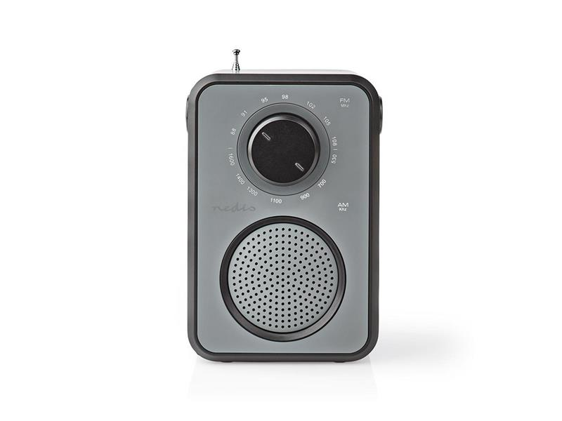 Rádio NEDIS RDFM1400GY GREY/BLACK