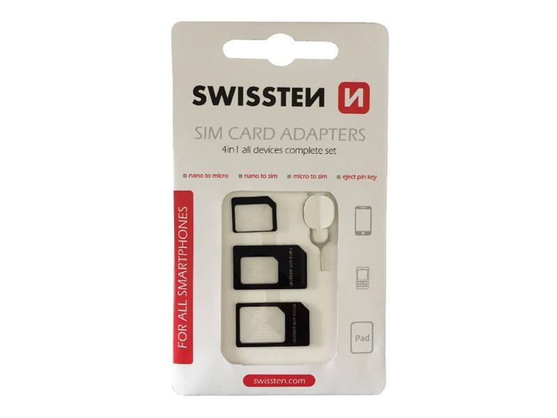 Adaptér SWISSTEN pre SIM karty 4in1