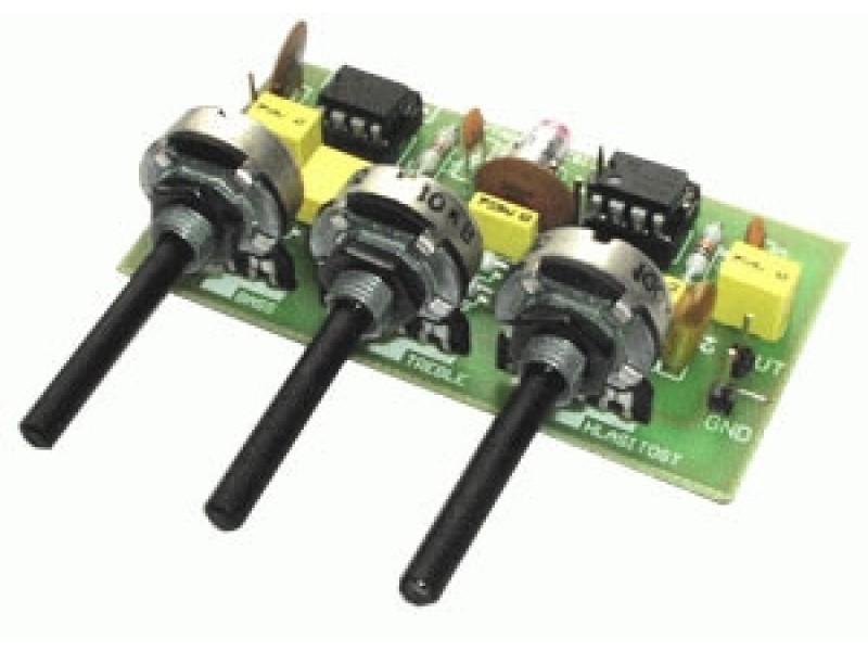 Stavebnica PT007 Gitarový a mikrofóny korekčný predzosilňovač