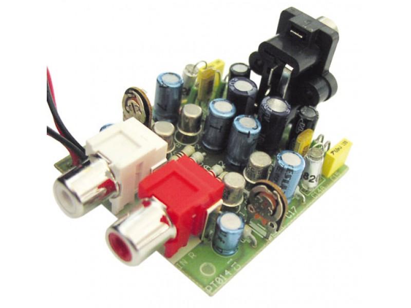 Stavebnica PT014 Predzosilňovač pre gramofón s magnetodynamickou prenoskou