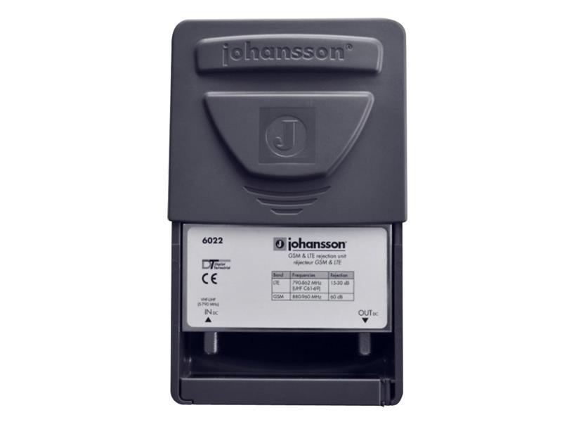Anténny filter Johansson 6022, na stožiar, filter LTE, dolný priepust DC až 790MHz