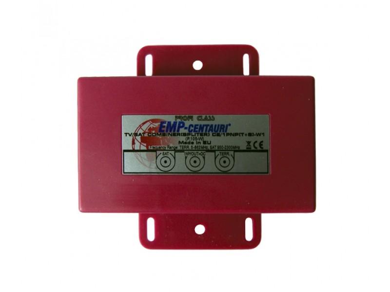 Satelitný zlučovač (C2/1PNP(T+S)-W1), 1xSAT IF+1xTV terr., vonkajšie, záruka 72 mesiacov